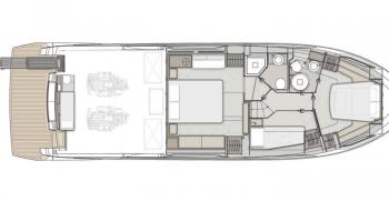 Ferretti Yachts 500 Layout