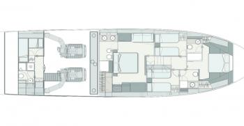 Ferretti Yachts 720 Layout